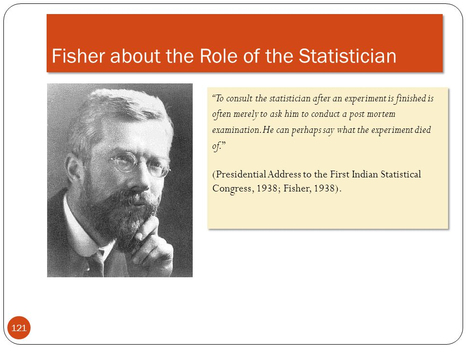 Fisher about the Role of the Statistician