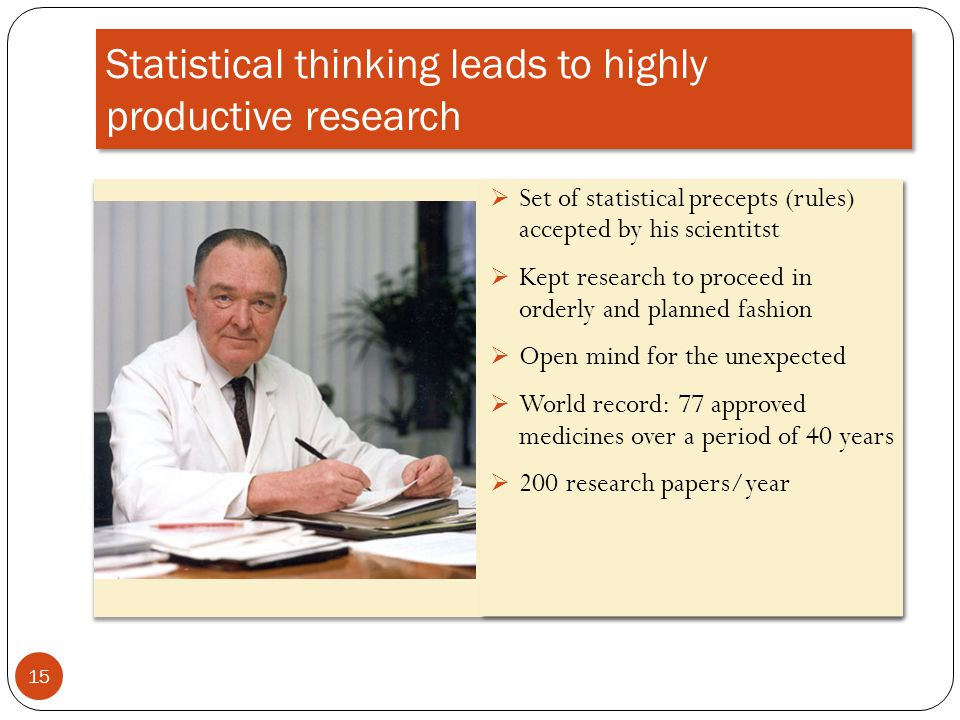 Statistical thinking leads to highly productive research