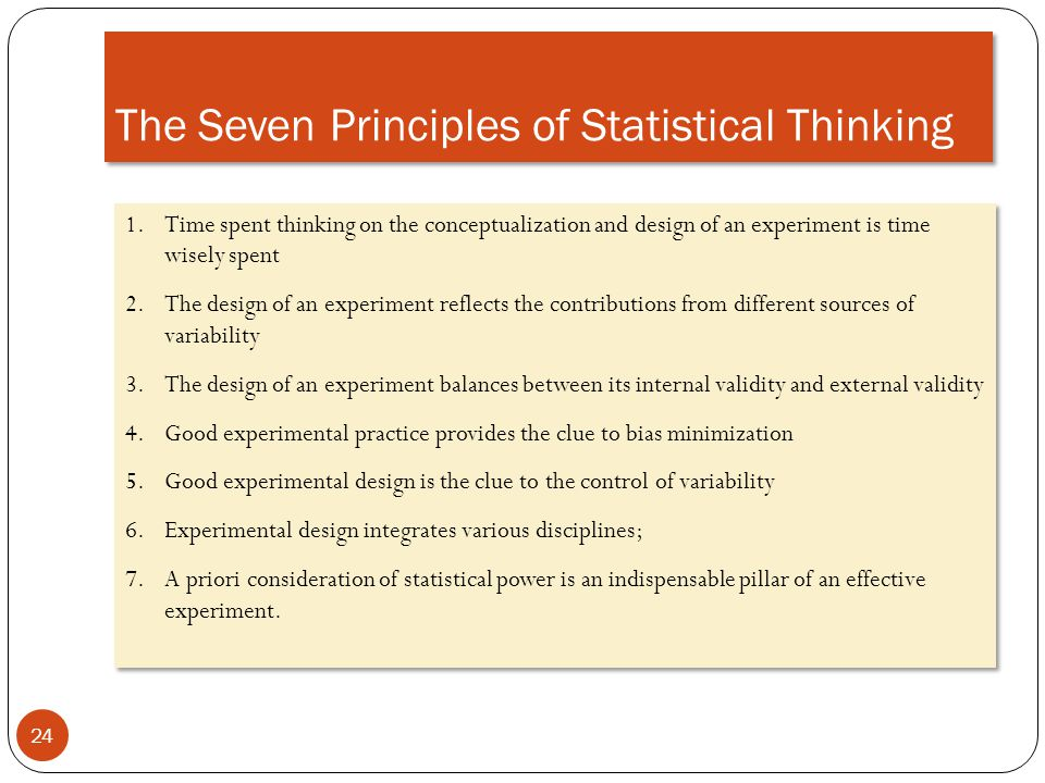 The Seven Principles of Statistical Thinking