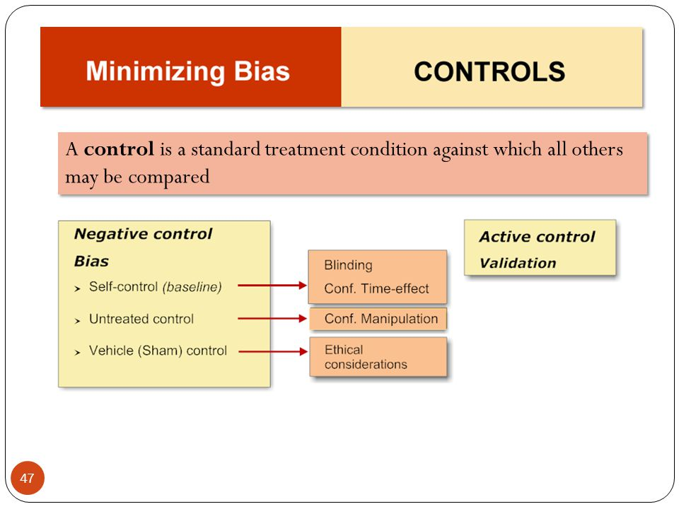 A control is a standard treatment condition against which all others may be compared
