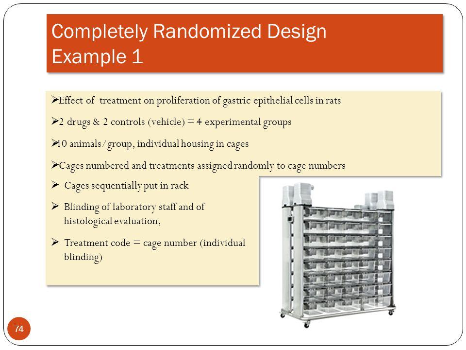 Completely Randomized Design Example 1