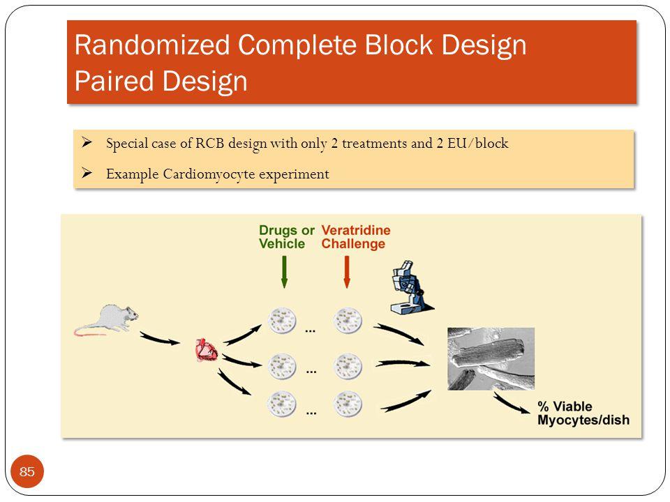 Randomized Complete Block Design Paired Design