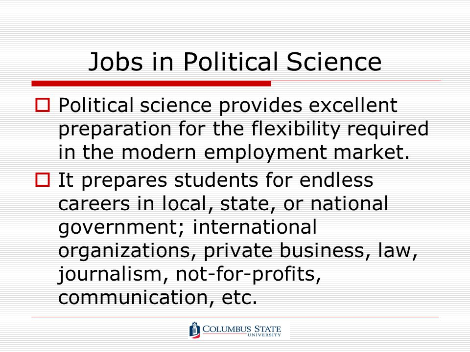 Jobs in Political Science