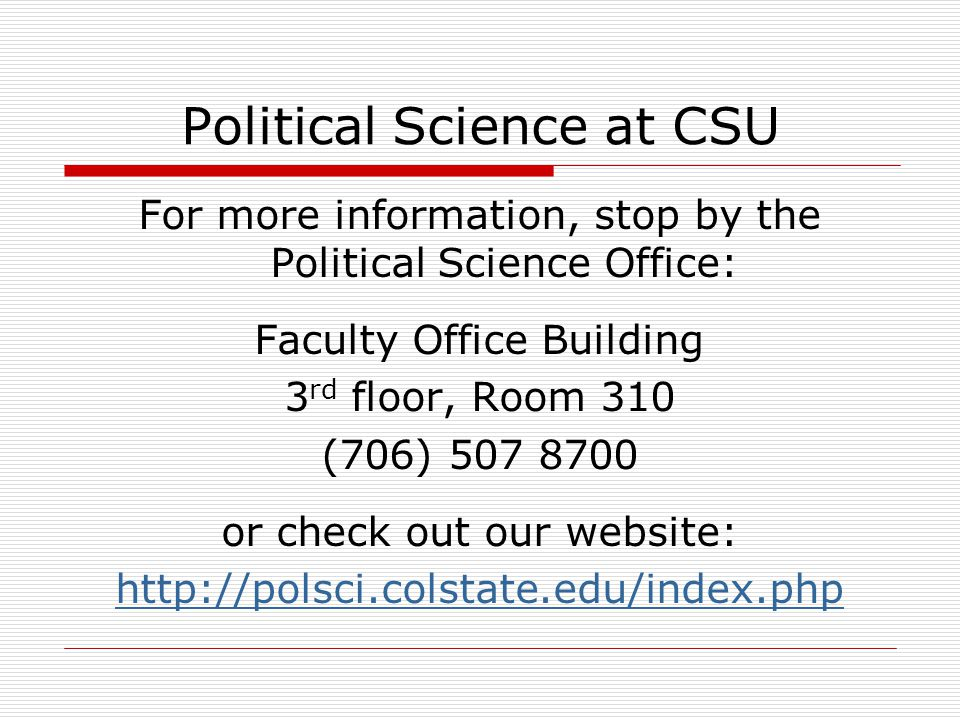 Political Science at CSU