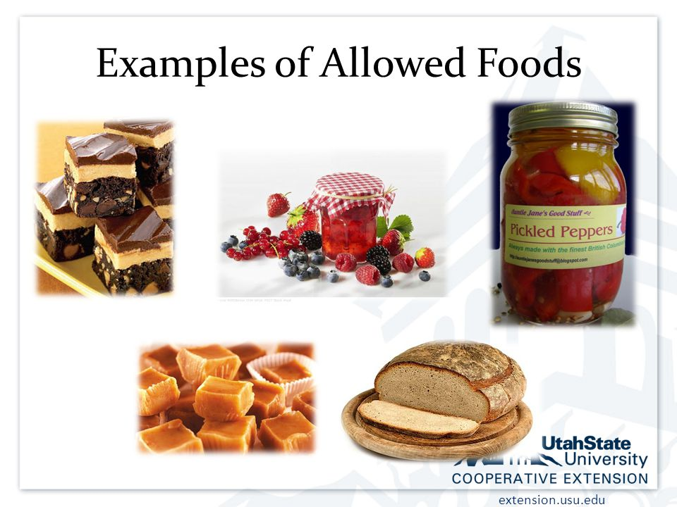 Examples of Allowed Foods