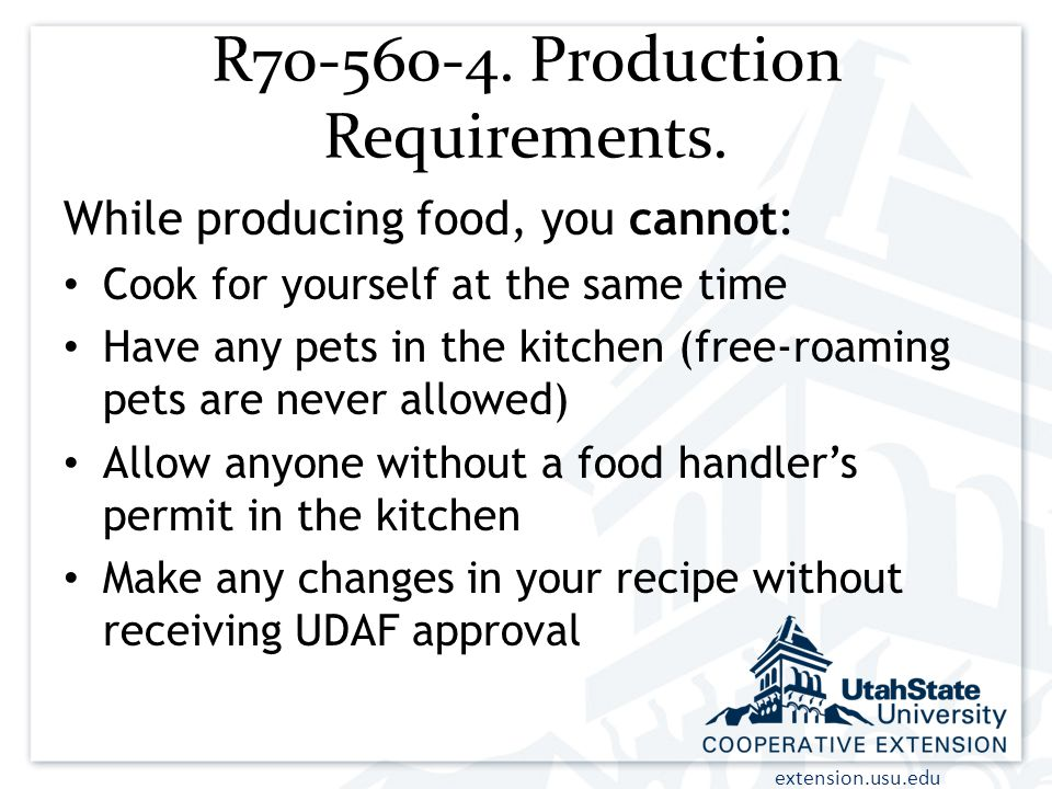 R70-560-4. Production Requirements.
