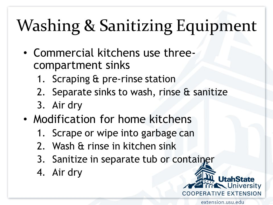 Washing & Sanitizing Equipment