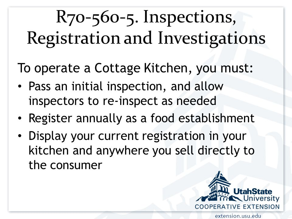 R Inspections, Registration and Investigations