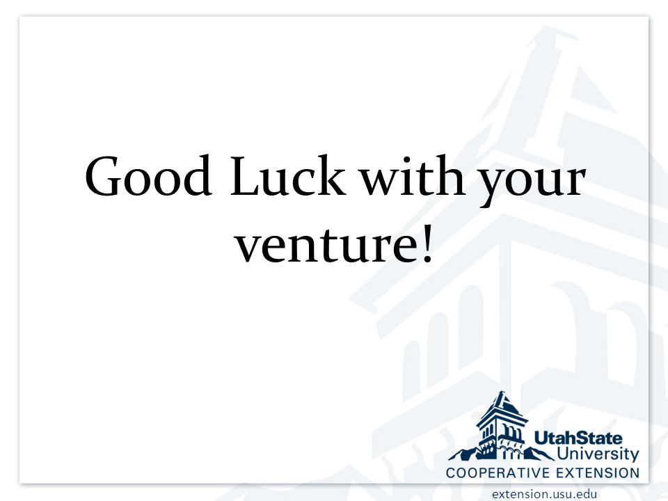 Good Luck with your venture!