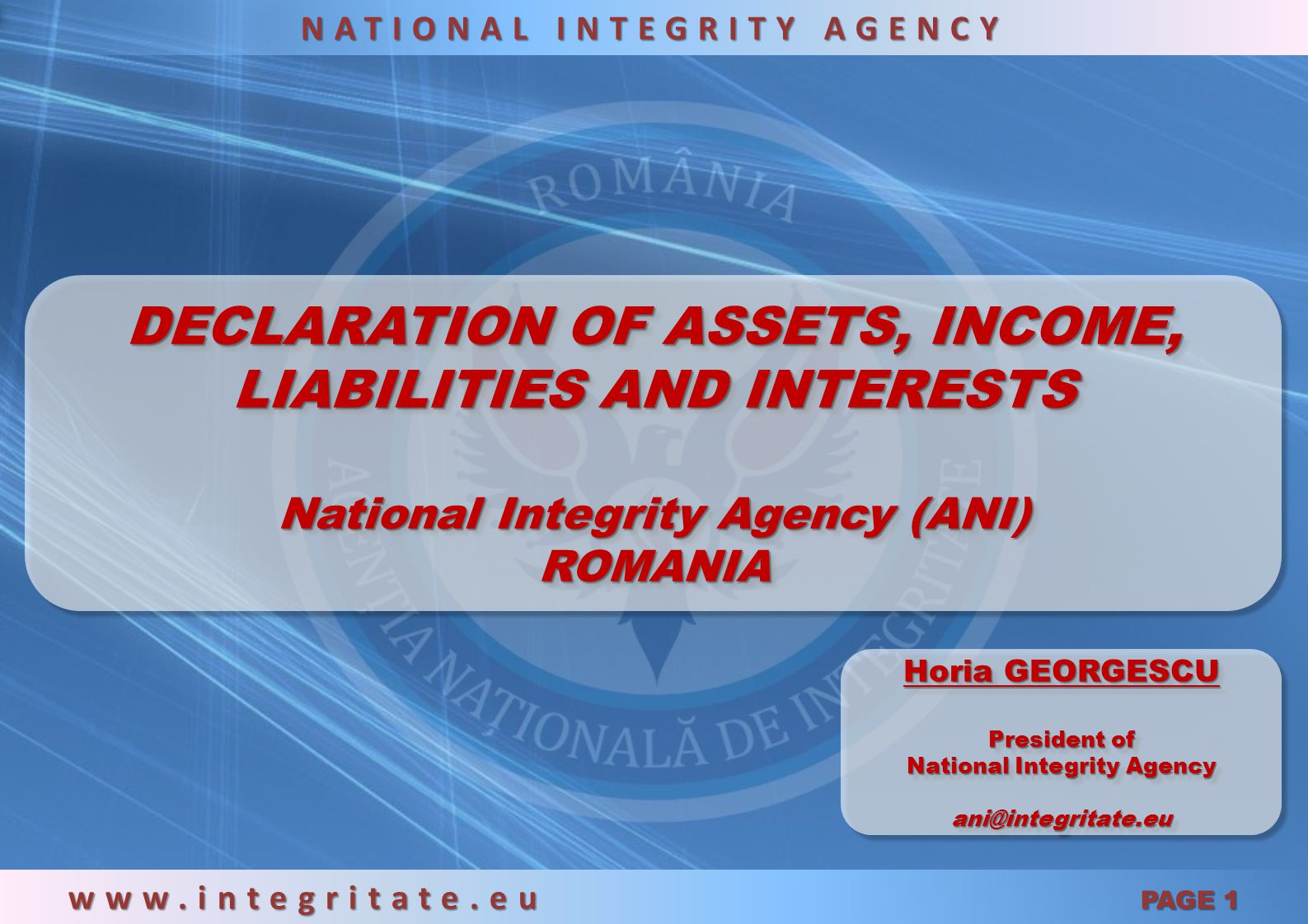 DECLARATION OF ASSETS, INCOME, LIABILITIES AND INTERESTS