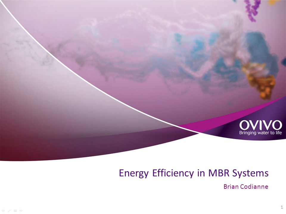 Energy Efficiency in MBR Systems