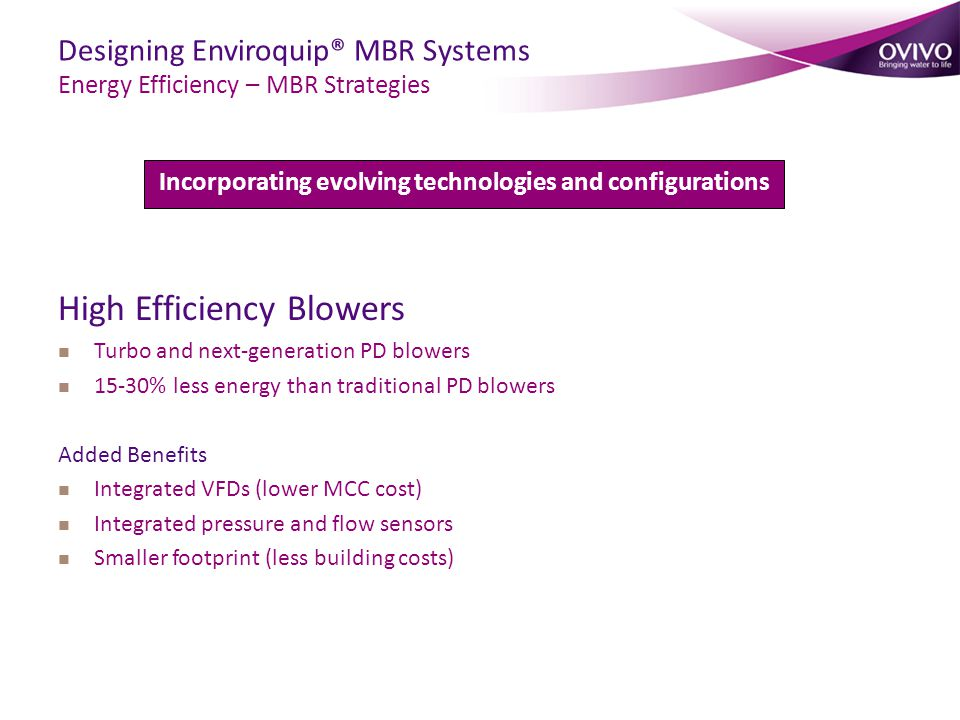 Incorporating evolving technologies and configurations