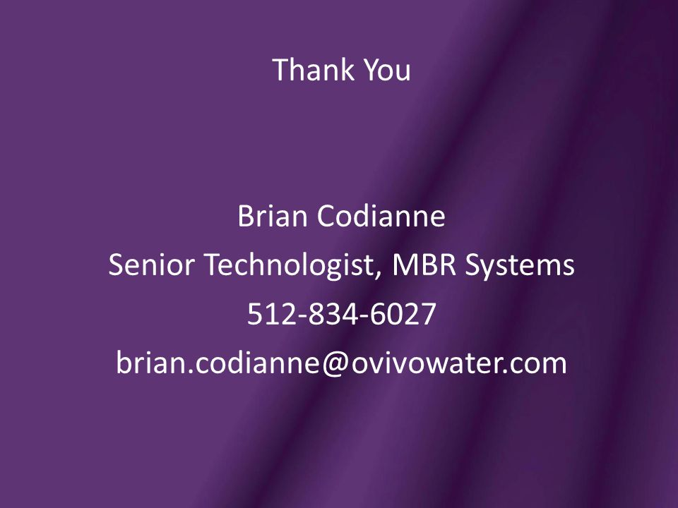 Senior Technologist, MBR Systems