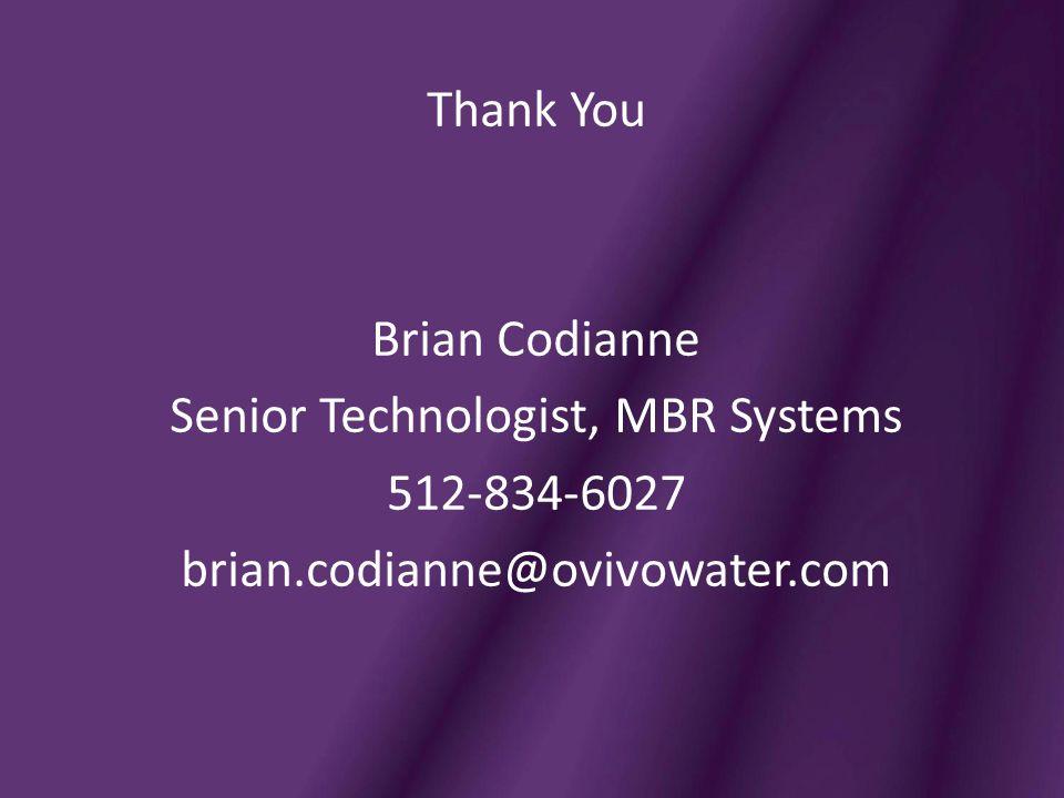 Senior Technologist, MBR Systems