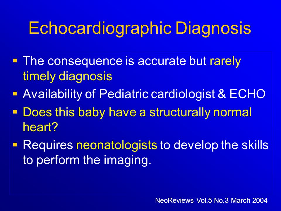 Echocardiographic Diagnosis