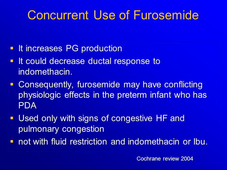 Concurrent Use of Furosemide