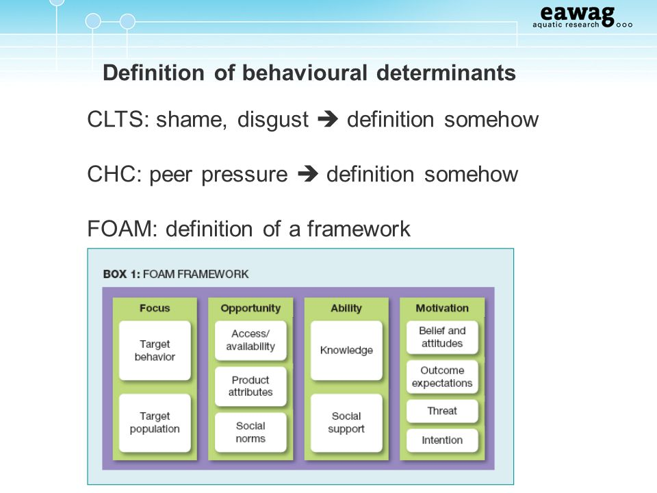 Definition of behavioural determinants