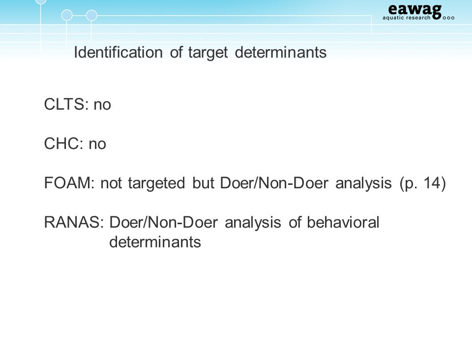 Identification of target determinants