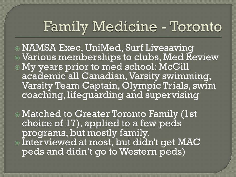 Family Medicine - Toronto