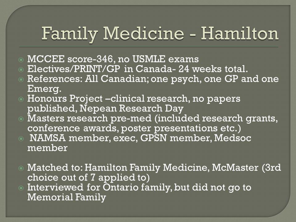Family Medicine - Hamilton