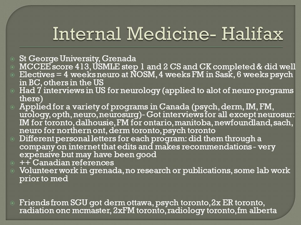 Internal Medicine- Halifax