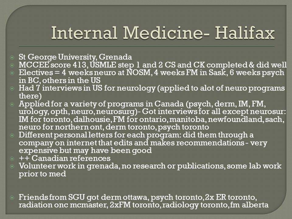 Internal Medicine- Halifax