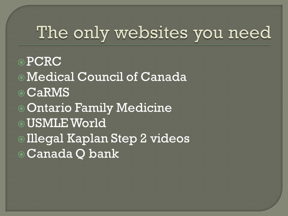 The only websites you need