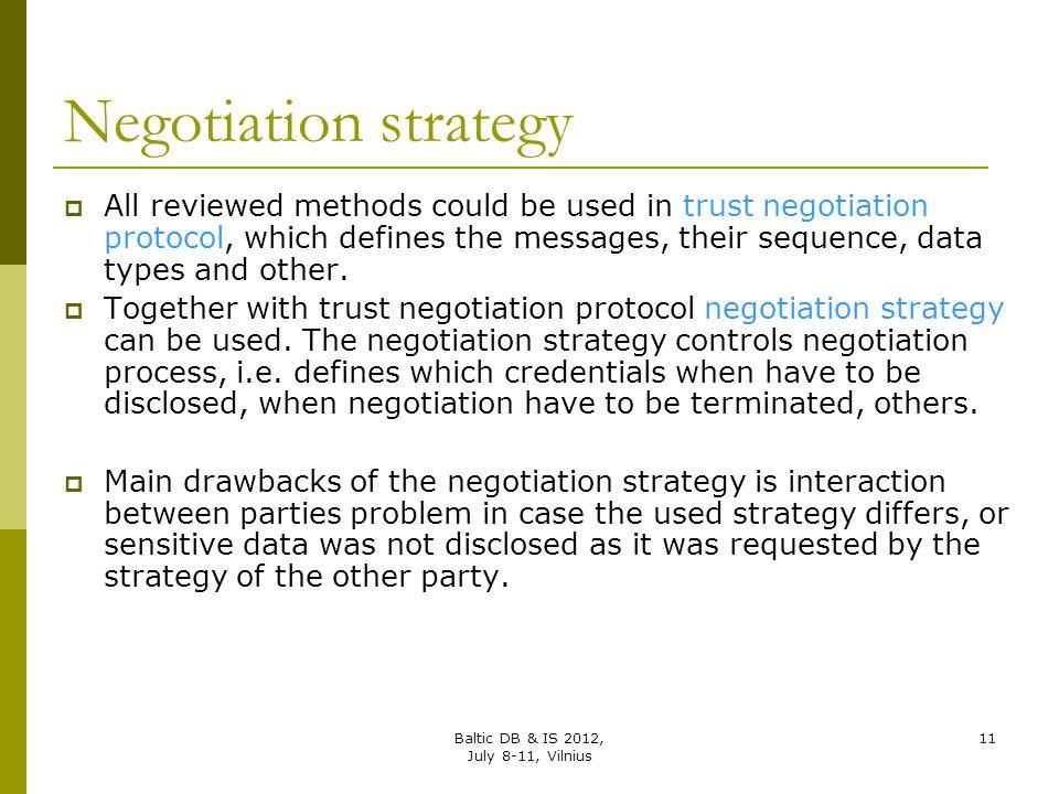 Negotiation strategy