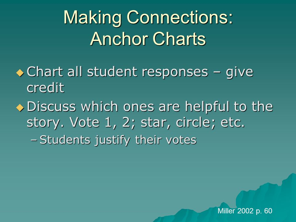 Making Connections: Anchor Charts