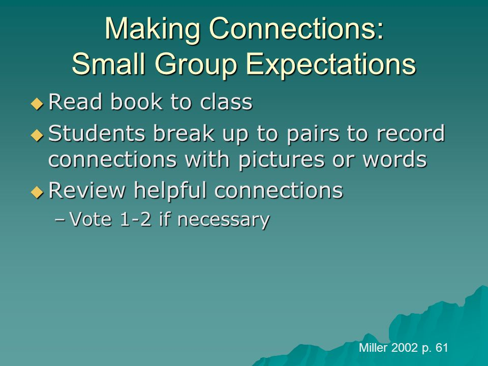 Making Connections: Small Group Expectations