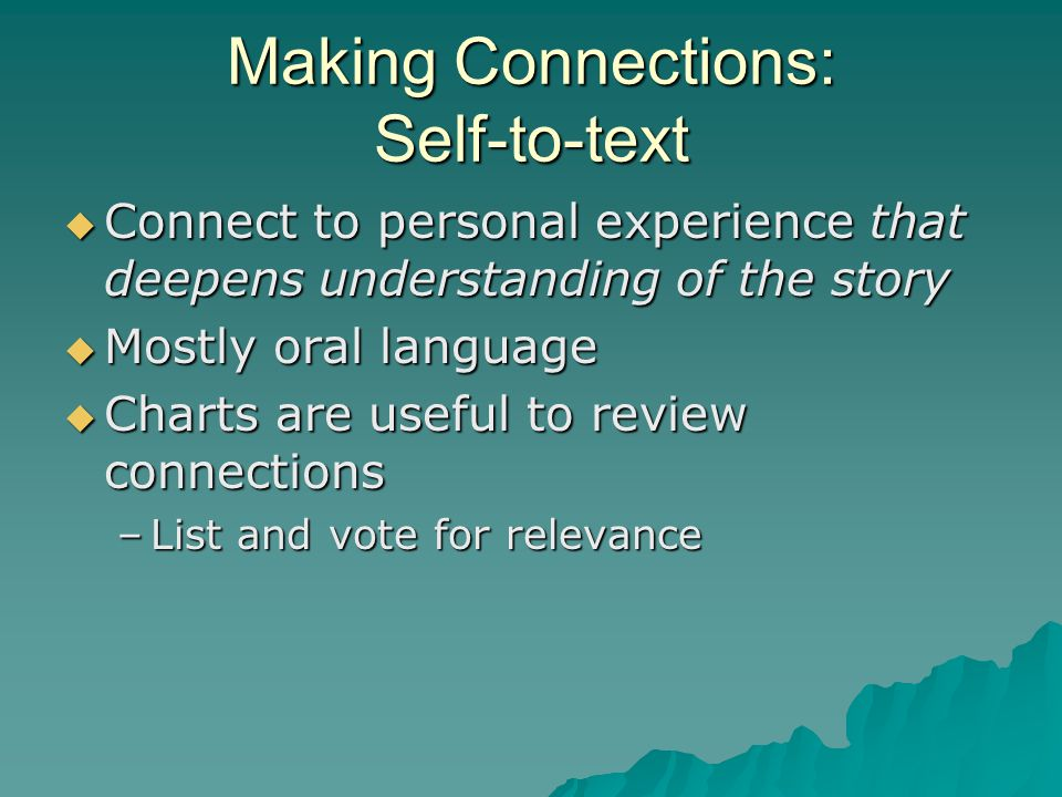 Making Connections: Self-to-text