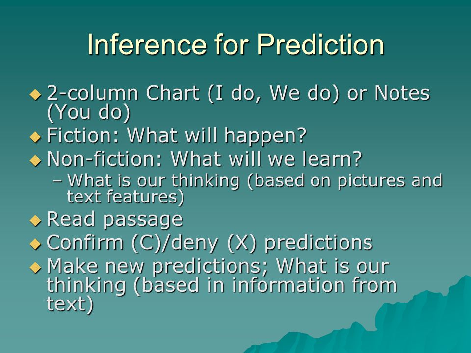 Inference for Prediction
