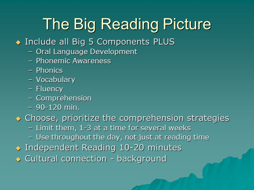 The Big Reading Picture