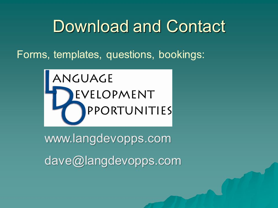 Download and Contact www.langdevopps.com dave@langdevopps.com