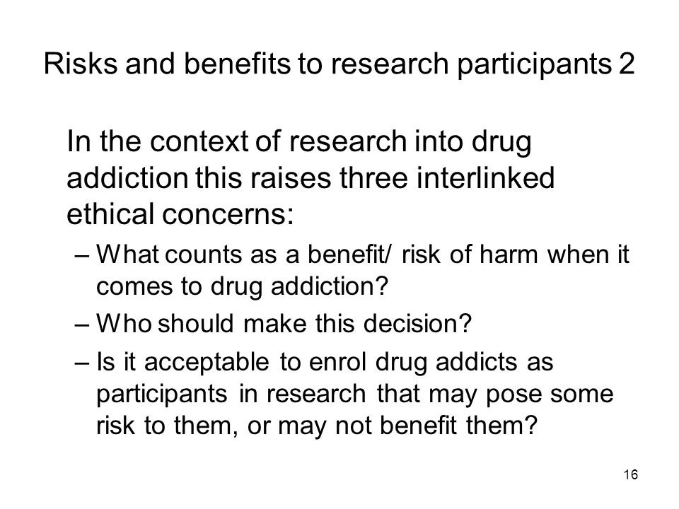 Risks and benefits to research participants 2