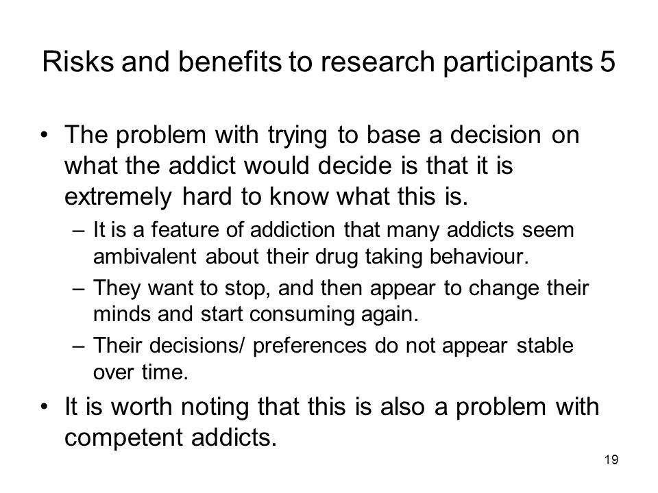 Risks and benefits to research participants 5