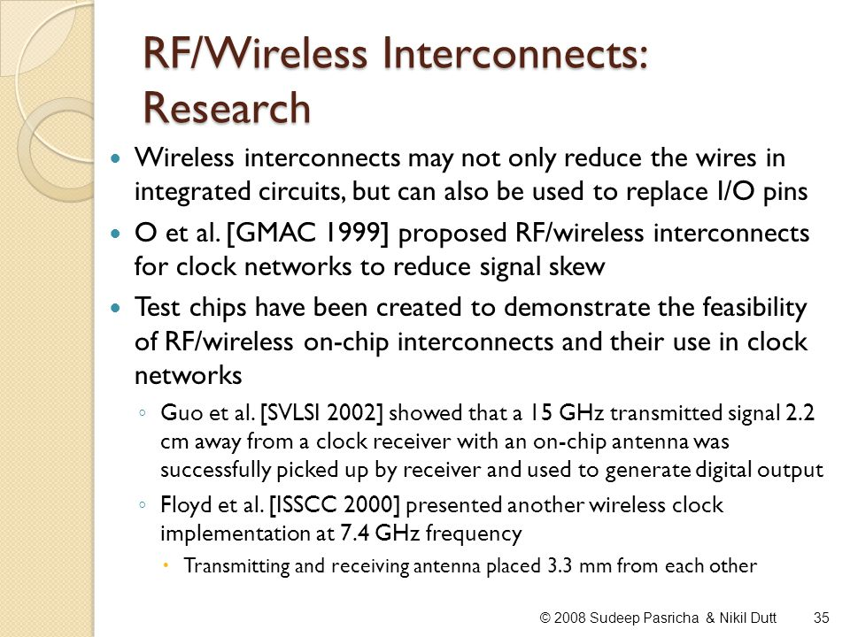 RF/Wireless Interconnects: Research