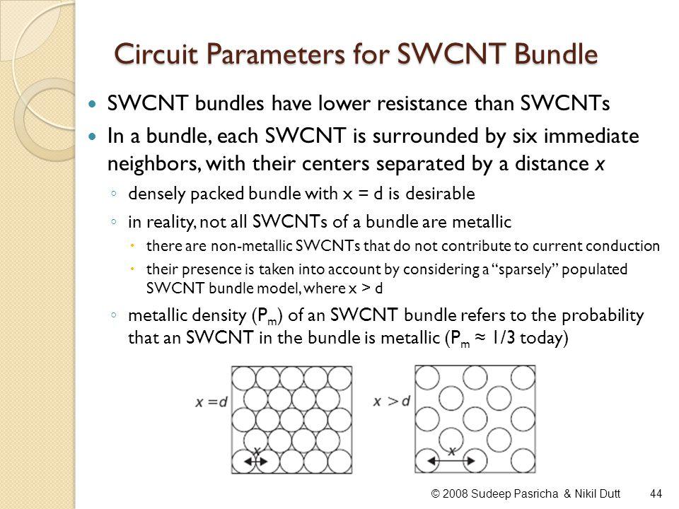 Circuit Parameters for SWCNT Bundle