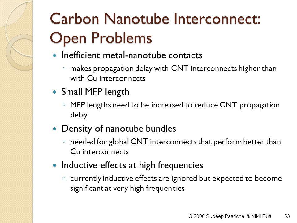 Carbon Nanotube Interconnect: Open Problems