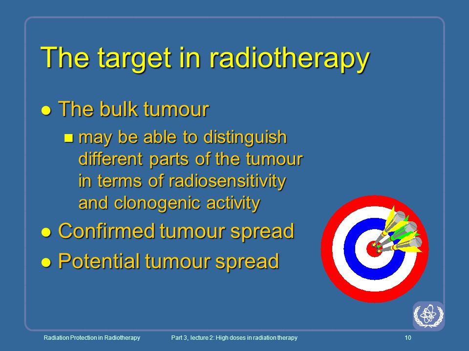 The target in radiotherapy