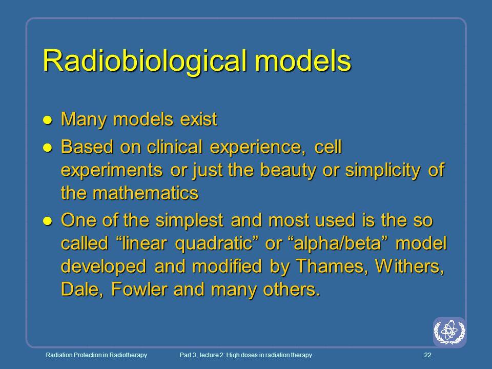 Radiobiological models