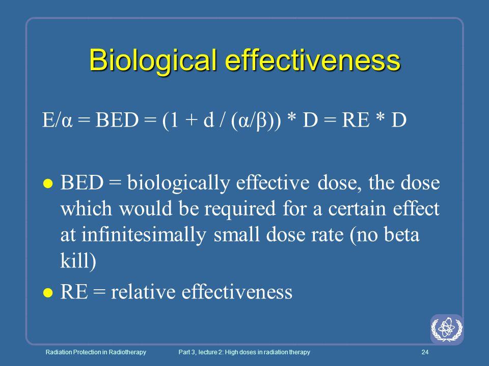 Biological effectiveness