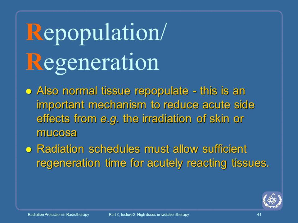 Repopulation/ Regeneration