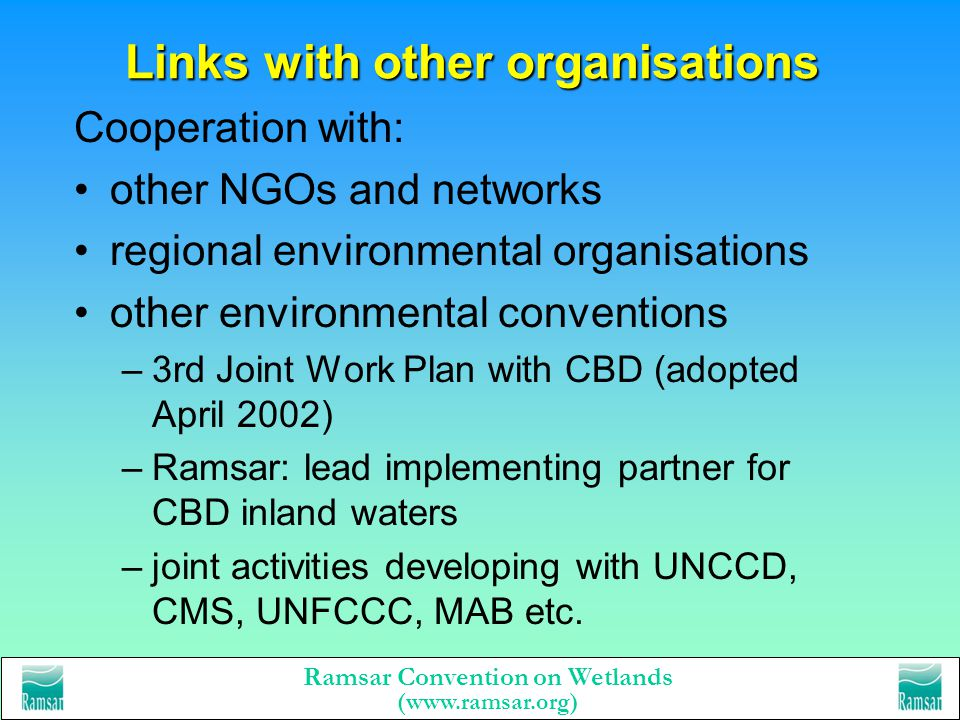 Links with other organisations
