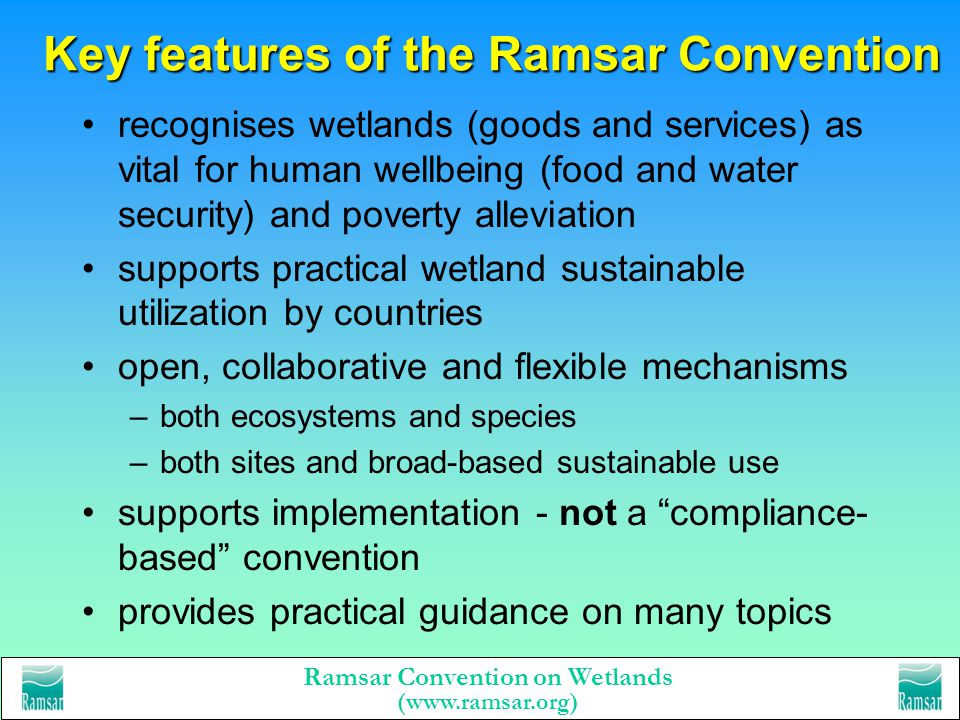Key features of the Ramsar Convention