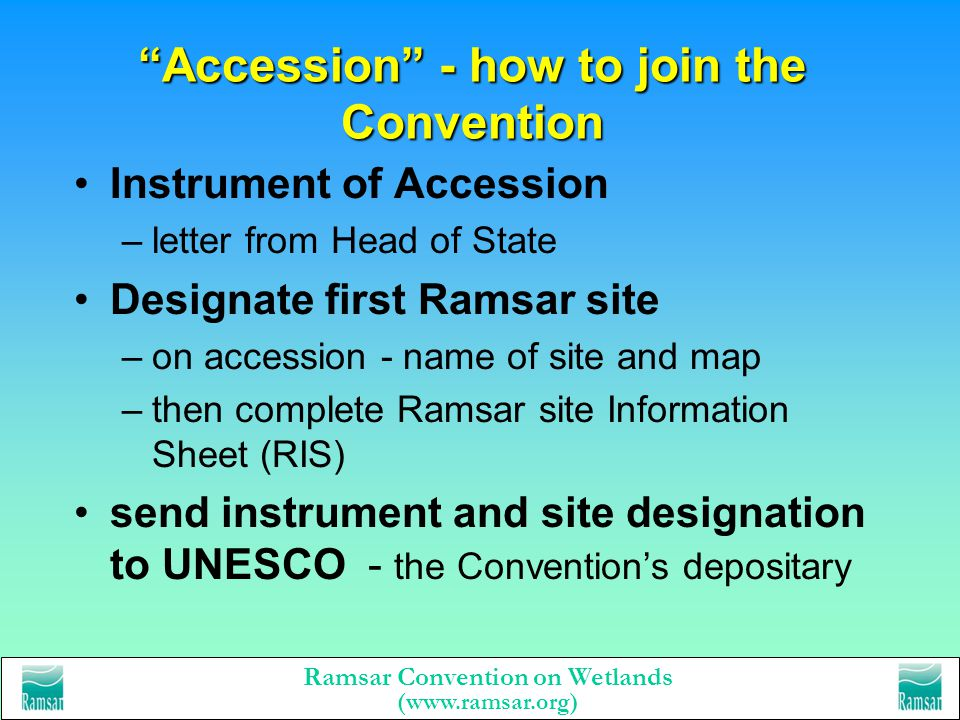 Accession - how to join the Convention