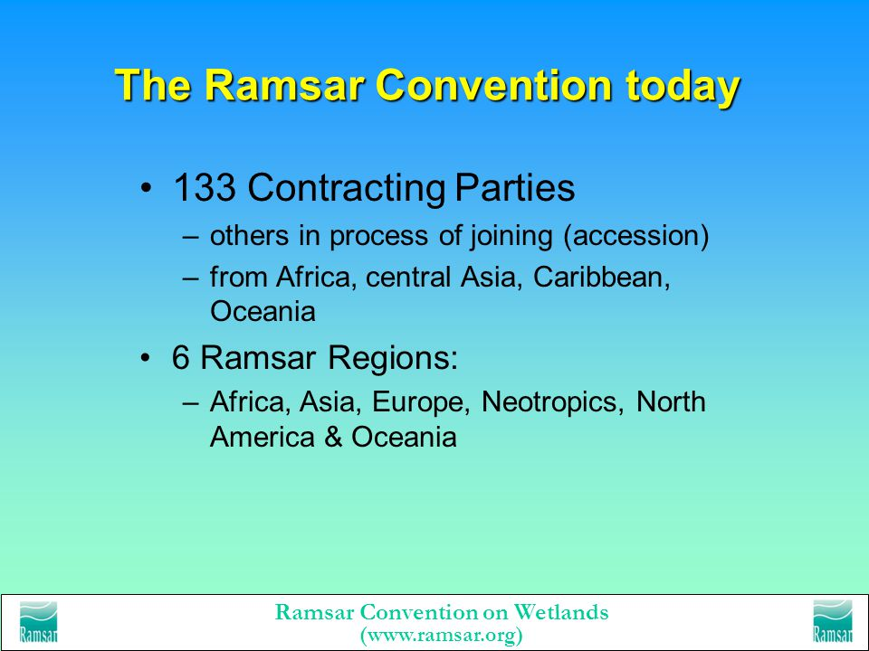 The Ramsar Convention today