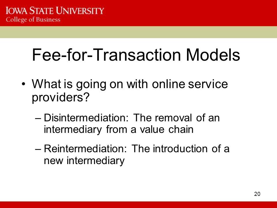 Fee-for-Transaction Models