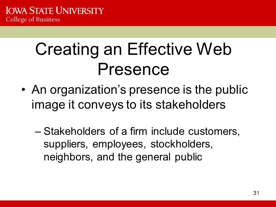 Creating an Effective Web Presence