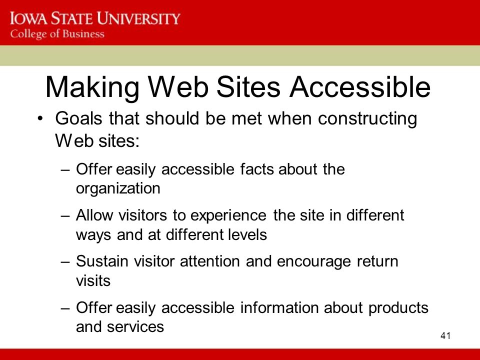 Making Web Sites Accessible